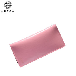 Wholesale Purple Wristlet - SHYAA Factory Wholesale 2016 New Lady Long Wallet Korean Women Bag Lady Small Wristlet Purse Hot Selling