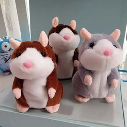 Wholesale Hamsters Sale - Hot sale popular 15cm Talking Hamster Talk Sound Record Repeat Stuffed Plush Animal Kids Child Toy Talking Hamster Plush Toys