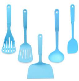 Wholesale Nylon Utensils - 5pcs Nylon Kitchen Utensil Cooking Tools Set Heat Resistant Spoon Shovel Kitchenware Ladle Spatula free shipping