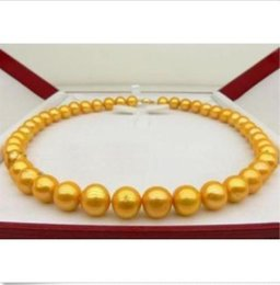 """yellow sea pearl Australia - 10-11MM 14K SOUTH SEA GOLDEN NATURAL PEARL NECKLACE 18"""" 14K YELLOW GOLD CLASP"""