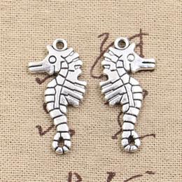 Wholesale Antique Seahorse - 50pcs Charms hippocampus seahorse 31*16mm Antique Making pendant fit,Vintage Tibetan Silver,DIY bracelet necklace