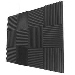 12 bloco - painéis de parede resistentes do tratamento do estúdio da absorção sadia da espuma acústica do carvão vegetal 30 X30X3 cm de