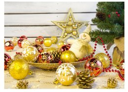 Wholesale Painting Christmas Tree - new Christmas decorations 6cm 24pcs set Christmas tree Decorative Painted balls DIY Party high quality colorful ball Party Supplie wholesale