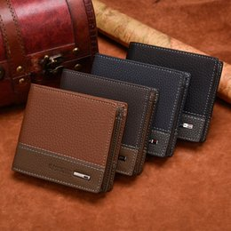 Wholesale leather short sets - Casual Leather Men famous brand wallet mens wallet and cardholder set online shopping mens leather wallets gifts for men