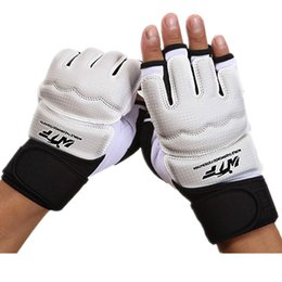 Wholesale Taekwondo Gloves Free Shipping - Adults and Children Boxing Gloves Half-finger Professional Sanda Taekwondo Gloves Fighting Boxing Equipment Free shipping