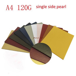 Wholesale A4 Sizes - Wholesale- 100pcs lot A4 size 21*29.7cm 120gsm single surface Pearl paper white colors for choose, DIY box gift packing