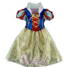 Migliori vestiti da compleanno delle ragazze online-Wholesale- Biancaneve gonna per bambini Princess Dress Costumes Novelty Design Kids Girl Ocasion Dress Cosplay Dress Miglior regalo di compleanno
