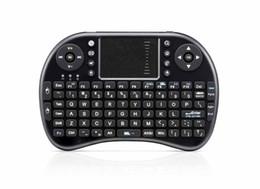 Clavier de langue hébraïque en Ligne-iPazzPort 2.4G Mini clavier sans fil i8 avec pavé tactile Fly Air Mouse russe hébreu espagnol plusieurs langues Claviers pour Andriod TV Box
