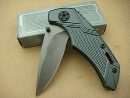 Wholesale Hunting Knife Gb - Cutting Tool GB Bear X03 Knife 56HRC 440 Blade Plaid Aluminium Handle Folding Knife Outdoor Survival Knife New In Original Box F395L