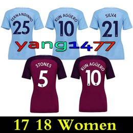 finest selection 945d5 08b18 lila beige Rabatt Thai qualität 17 18 frauen Stadt blau lila Fußball Jersey  2017 dame KUN