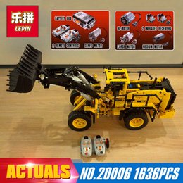 Wholesale Car Model Volvo - LEPIN 20006 Technic series 1636pcs Volvo L350F wheel loader Model Building blocks Bricks Compatible 42030 boy gift car Toys