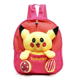 Wholesale pikachu plush backpack - Pikachu Plush Student Backpack Large Stuffed Cute Doll Toy Pikachu Soft Plush Yellow Backpack Shoulder plush Bag Game Costume Bag