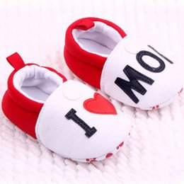 Wholesale Baby Boy S Shoes - New Kids Baby Toddler Shoes Unisex Boys Girls Cotton Soft Sole Skid-proof Shoes Baby shoes Round Toe Flats Soft Slippers S