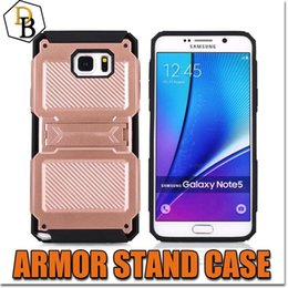 Wholesale Scrub Phone Covers - S7 Edge Hybrid Armor Quality Phone Case With Stand Bing Scrub PC TPU Mixture Back Cover For Iphone 6s Plus Tough Protection Shell