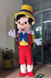 Wholesale Pinocchio Movies - High quality Pinocchio Mascot Costume, Adult Halloween Fancy Dress Cartoon Character Outfit Suit, Free Shipping
