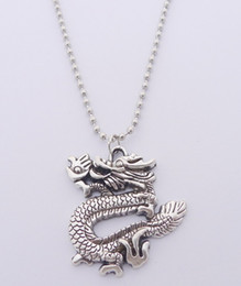 Wholesale Dragon Pendant Necklaces - FREE SHIPPING Hot Sale Alloy Dragon Necklace,N1919