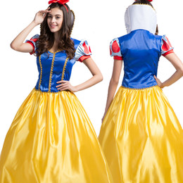 Wholesale Snow Women Xxl - Cosplay Snow White Dress Fantasia The Fairy Tale Role Halloween Costumes Dancing Party Princess Clothing Including Accessories