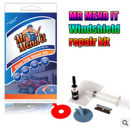 Wholesale Glass Chips - New Auto Car Glass Windscreen Windshield For Chip Crack Bullseye DIY Repair Kit Windscreen Repair Kit