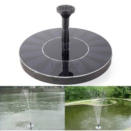 Wholesale Solar Brushless Water Pump Wholesale - 20pcs lot Solar Power Brushless Submersible Water Pump Floating Panel Pool Pond Watering XQ0140