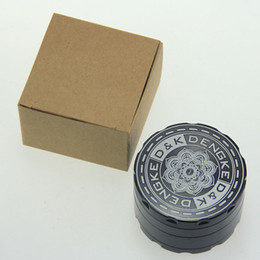 Wholesale Designed Herb Grinder - GRINDER! Herbal Grinders 50mm 60mm 4 Parts design Metal Smoking Accessories Comminuter With Handle Rolling For Tobacco Herb Spice DHL Free