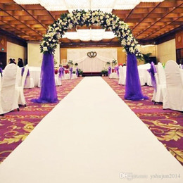 Wholesale Aisle Runner Carpet For Wedding - 1m width X 10 m roll White Nonwoven Carpet Aisle Runner For Wedding Party Backdrop Centerpieces Decorations Supplies