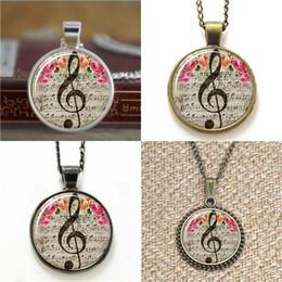 Wholesale G Earrings - 10pcs G Clef Mus Note Jewelry glass Necklace keyring bookmark cufflink earring bracelet