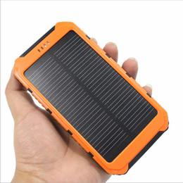 Carregador de telefone powerbank solar on-line-Ultra-fino Destaque 20000 mAh banco de Energia Solar LEVOU Bancos de Energia Solar 2A Saída de Telefone Celular Portátil luz de acampamento Carregador Solar Powerbank