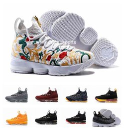 Wholesale High Silver Shoe - LeBRon 15 James Men Basketball Shoes Lebron shoe Arrival LBJ Sneakers 15s High Cut Mens Casual Shoes