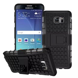 Wholesale Galaxy Note Wave Cover - For Samsung Galaxy Note 5 Case ARMOR Wave Hybrid Durable Dual Soft Silicone+Hard PC Stand Back Case ShockProof Cover For Samsung Note5