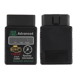 Wholesale Advance Auto Car - Wholesale-Mini ELM327 V2.1 Bluetooth HH OBD Advanced OBDII OBD2 ELM 327 Auto Car Diagnostic Scanner code reader scan tool hot selling