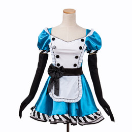 Wholesale Sexy Alice Wonderland Costumes - Sexy Alice in Wonderland,Blue Deluxe Cosplay Halloween Costume,Fancy lolita Dress S M L XL XXL