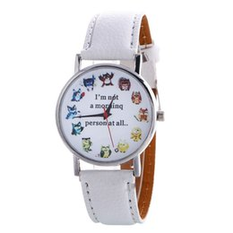 Wholesale Glasses Pattern For Kids - Fashion PU Leather Watches Cartoon Pattern Geneva Dress Watches Casual Quartz Wristwatch For Women Men Kids 2016 Newest