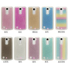 Wholesale rainbow silicone case - For LG K10 Galaxy A310 A510 A710 S7 Edge J310 J510 J710 2016 Rainbow Glitter Sparking Shiny Powder Sparkle Soft TPU Case Silicone Cover Skin