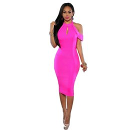 Wholesale Womens Clubbing Dresses - Womens Bodycon Dress New Arrivals 2017 Summer Sexy Open Back Party Night Club Dresses Elegant Sleeveless Slim Pencil Dress