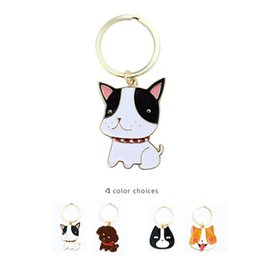 Wholesale Cute Teddy Girl - Color Dogs Keys Rings Unisex for Women & Men Cute Teddy dogs New gold plated alloy Keys rings Fashion Jewelry for lovers gifts