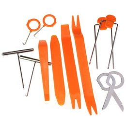Wholesale Land Rover Tool Set - New 12 Pcs Set Plastic Car Radio Door Clip Panel Trim Dash Audio Removal Pry Tool Repairing Set Free Shipping&WHolesale