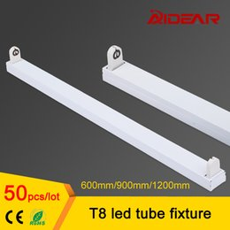 Wholesale T8 Led Free Shipping - t8 led tube fixture 1200mm 900mm 600mm, T8 led flourescent lamp tube fixture support bracket base, free shipping
