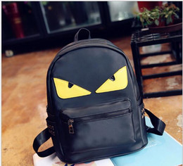 Wholesale Devil Eyes - Fashion Designer Handbags Backpacks 2017 New Small Shoulder Bags Monster Devil Eyes Ladies Nylon Backpacks European And American Style