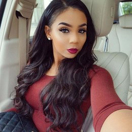 Wholesale Indain Hair Body Wave - Fashion Style Indain Raw Natural Human Hair Perfect Lace from Human Hair Wigs For African Americans Lace Front Wig