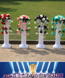Wholesale Stands For Backdrops - Height 89cm (35 inch) Roman Road Lead Rome Plastic Column With Flower For Wedding Mall Opened Props free shipping MYY