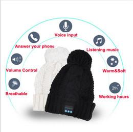 Bluetooth Şapka Müzik Bere Kap Bluetooth Stereo akıllı cep Telefonu Için kablosuz kulaklık Hoparlör Mikrofon Handsfree Müzik Şapka YYA575 cheap handsfree phones nereden ahizesiz telefonlar tedarikçiler
