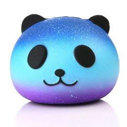 Wholesale Fun Retail - 2017 DHL Free Cute PU Squishy Super Slow Rising Jumbo Panda Squishy Squeeze Phone Strap Kids Fun Toy Gift Decompression Toy