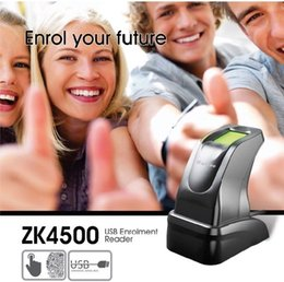lettore dito Sconti All'ingrosso- USB Fingerprint Reader Sensor Capture Reader scanner ZKT ZK4500 per PC Home e Office Free SDK Lettore di impronte digitali