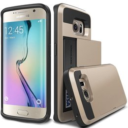 Wholesale Samsunggalaxy Cases - S7 Cases Wholesale manufacturers Rubber Bumper Slide Wallet Card Slot Heavy Duty Shockproof Protection Case for Samsunggalaxy S7 S7 edge