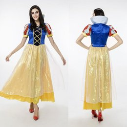 Wholesale Beautiful Princess Costumes - New Beautiful Princess Cosplay Stage Show Female Game Costumes Halloween Role Play Fairy Tales Women Long Dresses Performance Clothing