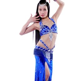Wholesale Bras Skirts Set - 2016 New Arrival Women Belly Dancing Clothes 2PCS Bra&Skirt Lady Bollywood Dance Costumes Set Professional Female Bellydance