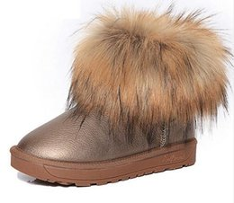 Wholesale Thick Warm Half Slips - Brand Women's Shoes Thick Fur Fashion Snow Boots 2017 New Winter Cotton Warm Shoes For Women Ankle Boots XWX3265
