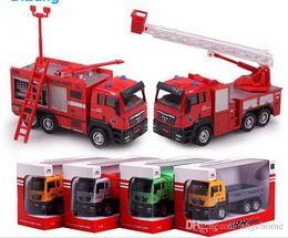 Wholesale Mixer Concrete Truck - 2015 Newest Engineering Alloy 1:55 Vehicle Model Toys Simulation Trucks firetrucks Diecast Metal Cars concrete mixer Truck Model Toys Vehicl