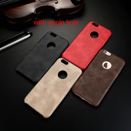 Wholesale Slim Iphone5 - Luxury Official Ultra thin Slim Retro Soft Leather TPU PU leather Back Cover Soft Case For iPhone5 iPhone 6 plus i6 6+