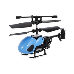 Wholesale Fascinating Holidays - QS QS5012 2CH Micro Infrared Helicopter RC Drone singular and fascinating Aircraft Christmas gifts children toys blue